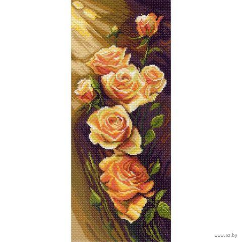 """Канва с нанесенным рисунком """"Жёлтые розы"""""""