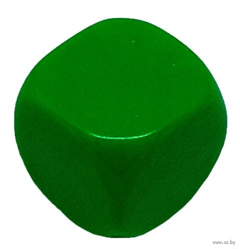 "Кубик D6 ""Пустой"" (16 мм; зелёный; арт. 2527-9) — фото, картинка"