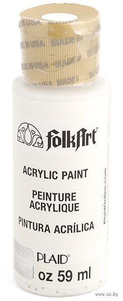 "Краска акриловая ""FolkArt. Acrylic Paint"" (зимний белый, 59 мл; арт. PLD-00429)"