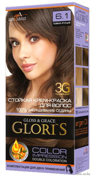 Крем-краска для волос (тон: 6.1, темно-русый)