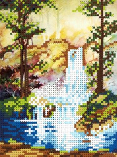 "Вышивка бисером ""Водопад"" (120х160 мм) — фото, картинка"