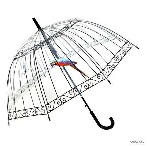 """Зонт-трость """"Пташка в клетке"""" — фото, картинка"""
