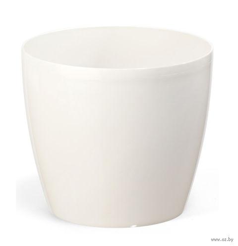 """Кашпо """"Magnolia"""" (18 см; белое) — фото, картинка"""