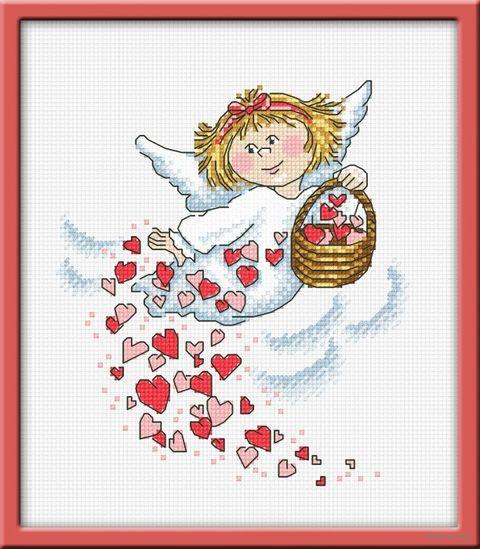"Вышивка крестом ""Дарю любовь"" (160х180 мм) — фото, картинка"