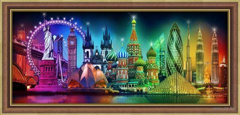 "Алмазная вышивка-мозаика ""Краски мира"" (700х300 мм) — фото, картинка"
