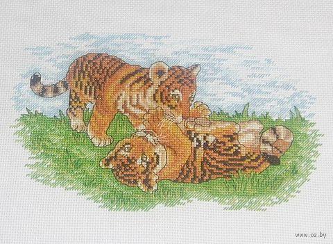 "Вышивка крестом ""Тигрята"" (260х160 мм) — фото, картинка"