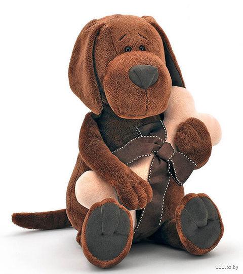 """Мягкая игрушка """"Пес Барбоська с косточкой"""" (30 см) — фото, картинка"""