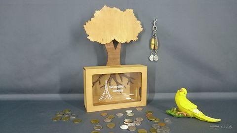 "Копилка ""Дерево. На поездку мечты"" (арт. S00035) — фото, картинка"