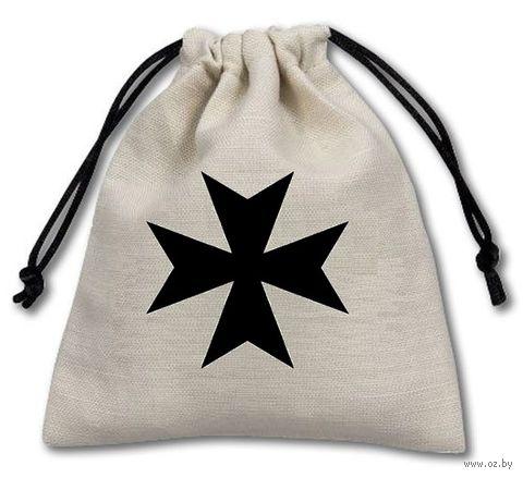"""Мешочек для хранения кубиков и карт """"Мальтийский крест"""" — фото, картинка"""