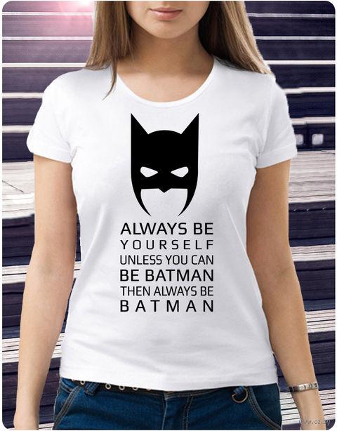 "Футболка женская ""Бэтмен"" (размер 44; арт. 1) — фото, картинка"