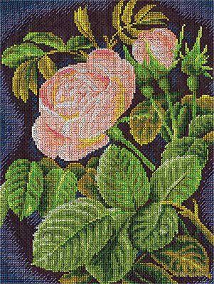 """Вышивка крестом """"Кремовая роза"""""""
