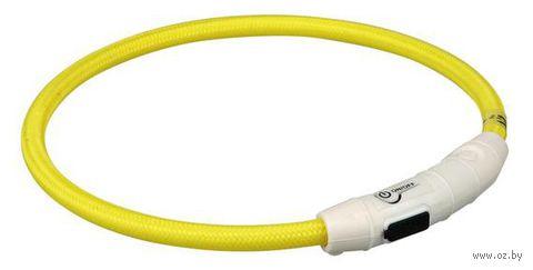 Ошейник светящийся для животных (размер L-XL; 65 см; желтый)