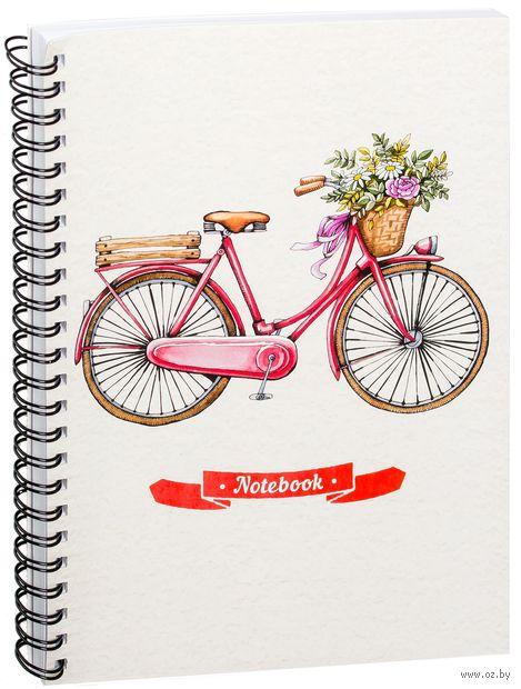 """Блокнот в клетку """"Винтажный Велосипед"""" (А5; арт. 1612) — фото, картинка"""