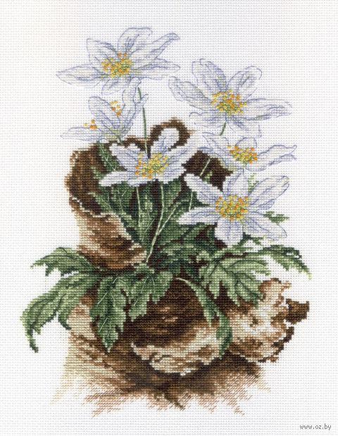 """Вышивка крестом """"Первоцветы"""" (240х180 мм) — фото, картинка"""