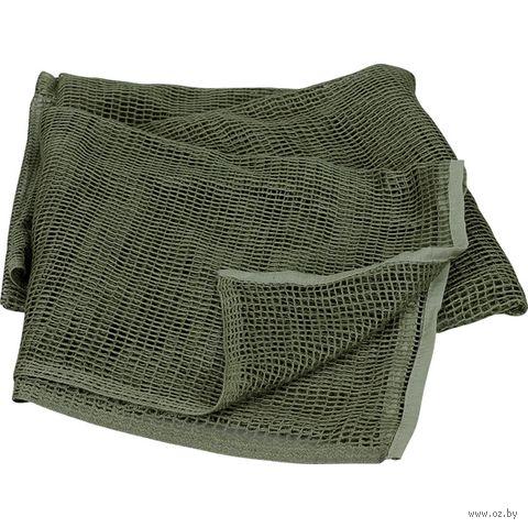 Шарф сетчатый (190x90 см; оливковый) — фото, картинка