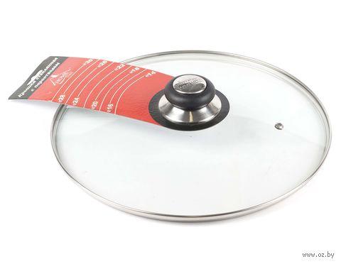 Крышка стеклянная с пароотводом (30 см; арт. 4G-009)