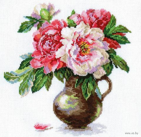"""Вышивка крестом """"Цветущий сад. Пионы"""""""