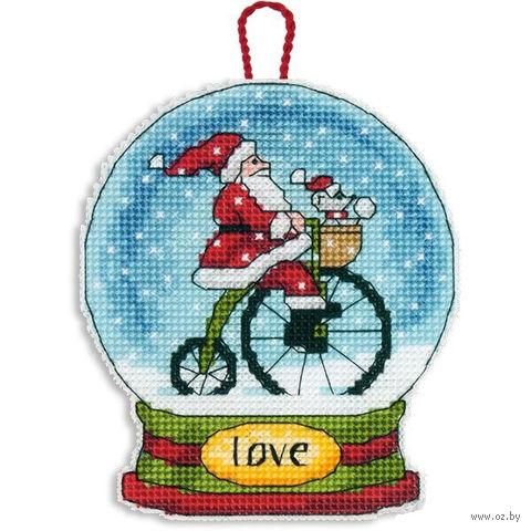 "Вышивка крестом ""Снежный шар. Любовь"" (114х95 мм; арт. DMS-70-08903) — фото, картинка"