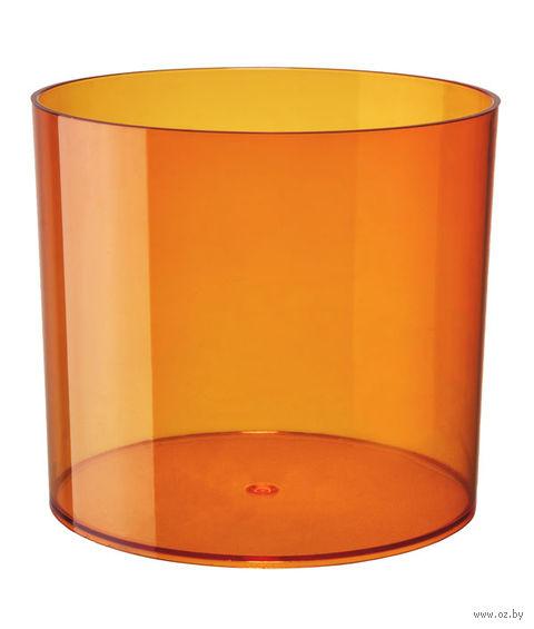 """Цветочный горшок """"Цилиндр"""" (15 см; прозрачный оранжевый) — фото, картинка"""