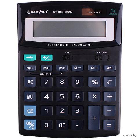 """Калькулятор настольный """"Darvish"""" (12 разрядов; арт. DV-888-12DM) — фото, картинка"""