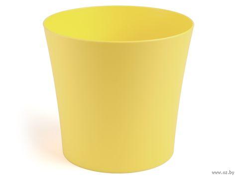 "Кашпо ""Фиалка"" (14,5 см; желтое) — фото, картинка"