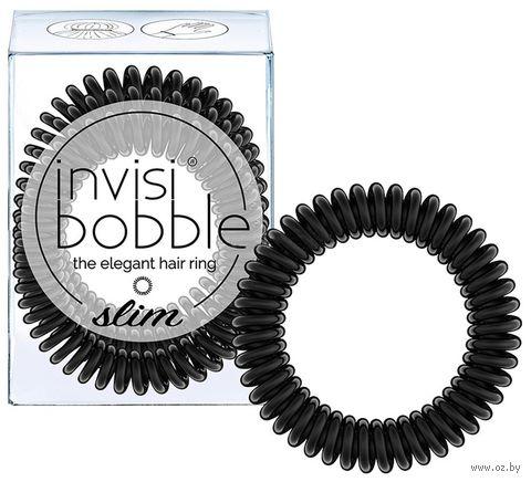 """Набор резинок-браслетов для волос """"Slim True Black"""" (3 шт.; арт. 3094) — фото, картинка"""