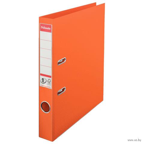 Папка-регистратор А4 с арочным механизмом 50 мм (ПВХ, оранжевая)