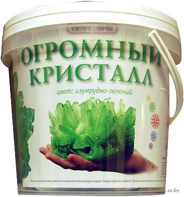 """Набор для выращивания кристаллов """"Огромный кристалл"""" (изумрудно-зеленый) — фото, картинка"""