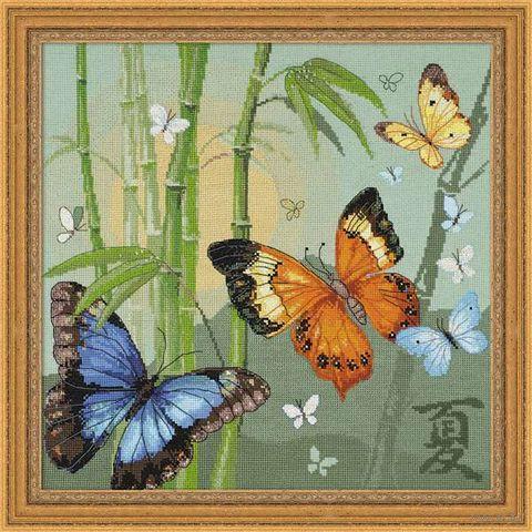 "Вышивка крестом ""Бабочки"" (350х350 мм) — фото, картинка"