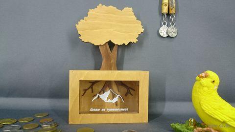 "Копилка ""Дерево. Коплю на путешествие"" (арт. S00038) — фото, картинка"