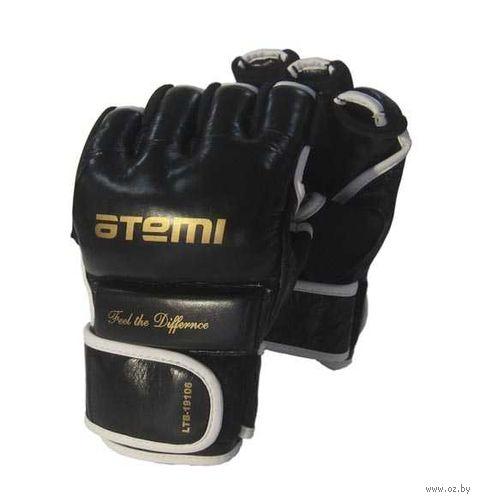 Перчатки для MMA LTB19106 (L; кожа; чёрные) — фото, картинка