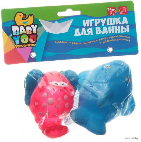 """Набор игрушек для купания """"Дельфин и краб"""" (2 шт.) — фото, картинка"""