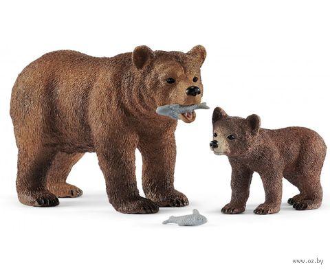 "Набор фигурок ""Самка медведя гризли с детенышем"" — фото, картинка"