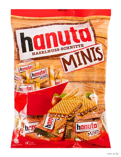 "Вафли ""Ferrero. Hanuta Minis"" (200 г) — фото, картинка"