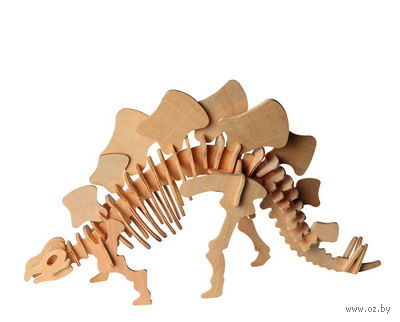 """Сборная деревянная модель """"Стегозавр"""" (малый) — фото, картинка"""