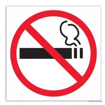 """Наклейка информационная """"Курение запрещено"""" (114x114 мм)"""