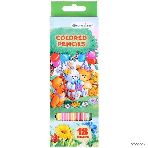 """Набор карандашей цветных """"Darvish"""" (18 цветов)"""