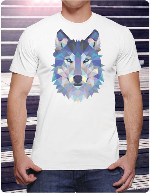 "Футболка мужская ""Волк"" (размер 56; арт. 4) — фото, картинка"