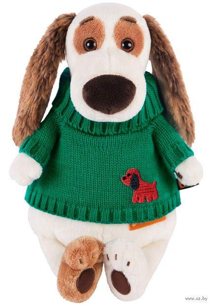 """Мягкая игрушка """"Бартоломей в зелёном свитере"""" (27 см) — фото, картинка"""