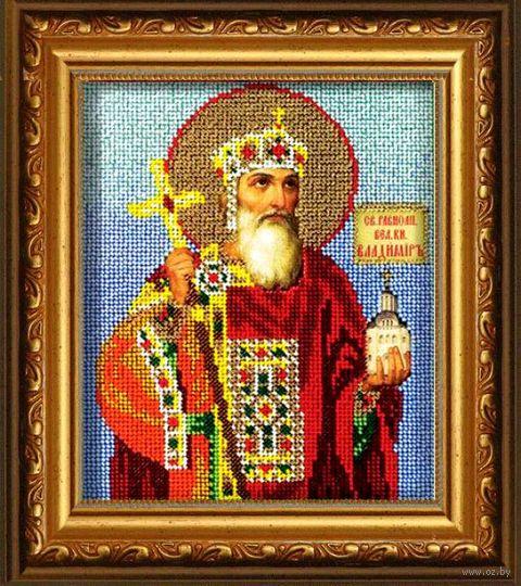 "Вышивка бисером ""Св. Владимир"" (120х145 мм) — фото, картинка"