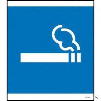"""Наклейка информационная """"Место для курения"""" (114x114 мм)"""