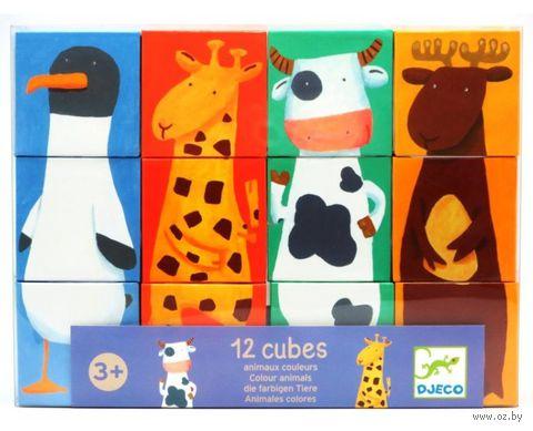 """Кубики """"Животные"""" (12 шт)"""