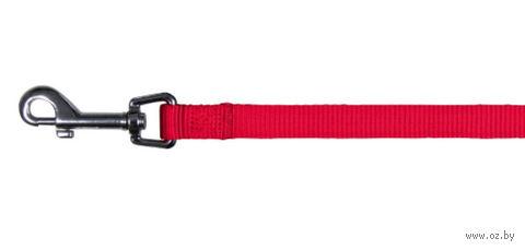 """Поводок нерегулируемый для собак """"Classic"""" (размер XS-S; 120 см; красный)"""