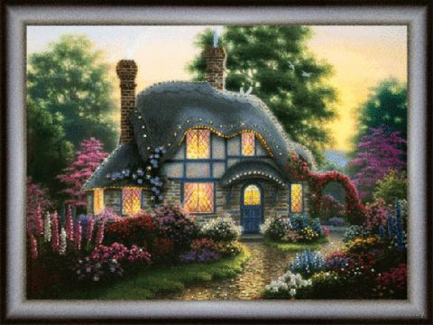 "Алмазная вышивка-мозаика ""Цветы у дома"""
