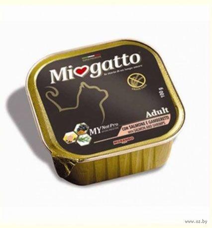 """Консервы для кошек """"Miogatto"""" (100 г; лосось и креветки) — фото, картинка"""