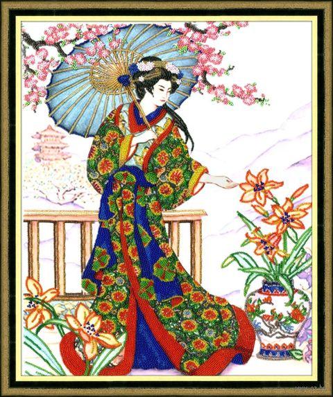 """Вышивка бисером """"Японка"""" (355х450 мм) — фото, картинка"""