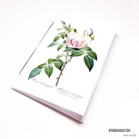 """Блокнот белый """"Роза"""" А7 (726)"""