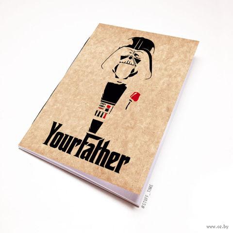 """Блокнот крафт """"Дарт Вейдер. Крестный отец"""" (А5; арт. 009) — фото, картинка"""