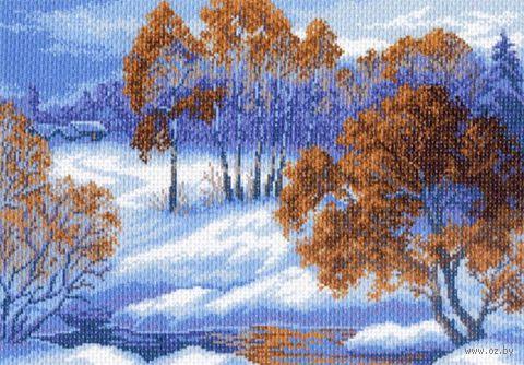 """Канва с нанесенным рисунком """"Приход зимы"""""""