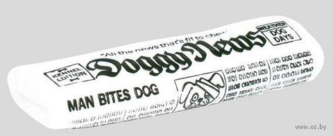 """Игрушка для собак с пищалкой """"Собачьи новости"""" (18 см) — фото, картинка"""